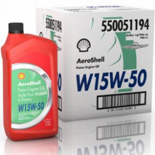 AEROSHELL HUILE W15/W50 12 bidons 1L ( en fait 0.946 L )