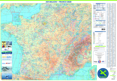 CARTE MURALE AIR MILLION FRANCE 2020 FFA