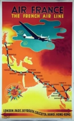 AFFICHE AIR FRANCE THE FRENCH AIR LINE
