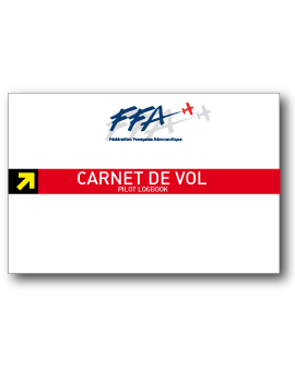 CARNET DE VOL AVION FFA couverture souple