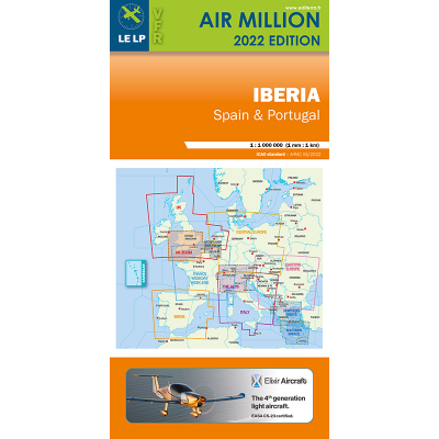 Carte OACI 2017 AIR MILLION VFR ESPAGNE/PORTUGAL au 1/1 000 000
