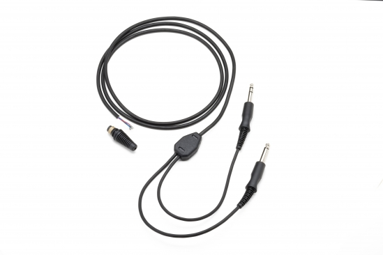 Cable standard de remplacement pour casque (mono) double jacks