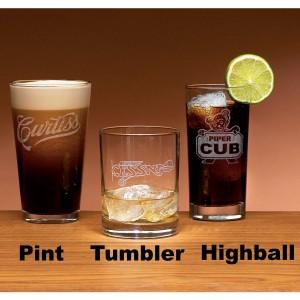 Set de 4 verres avec logo CESSNA ou PIPER CUB