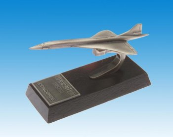 Concorde Desk model en étain