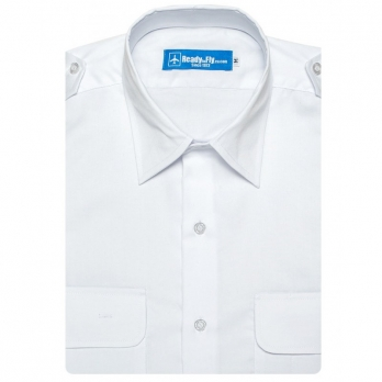 pilot shirt white collar short sleeve