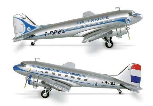 Maquette DC3 AIR FRANCE/KLM au 1/200 en métal