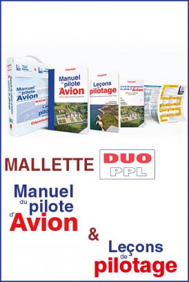 LA MALLETTE DUO PPL-LAPL. Le manuel pilote avion 18ème édition)+Manuel leçon de pilotage 5 ème édition + livret de progression