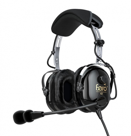 CASQUE FARO AVIATION G2 ANR + sacoche FARO