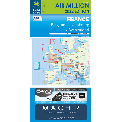Carte AIR MILLION VFR France 2018 au 1/1 000 000