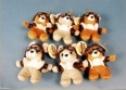 Porte-clés Petite souris aviatrice ou petit ourson en peluche