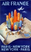 Affiche AIR FRANCE PARIS-NY-PARIS