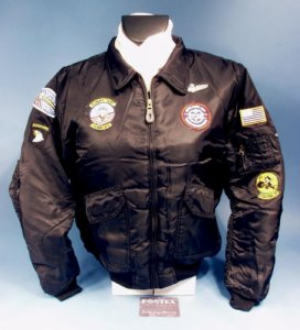 CWU-45FLIGHT JACKET TOP GUN Noir pour enfant