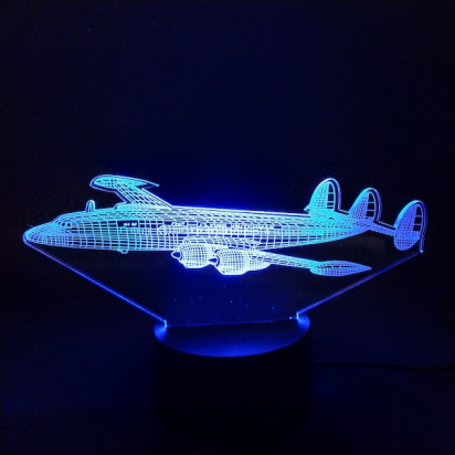Lampe de bureau LED effet 3D L1049 Super Constellation KLM