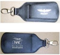Porte-étiquette cuir pour bagage
