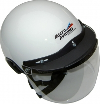 Casque Paramoteur/ULM Micro Avionics avec visière transparente
