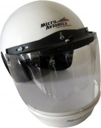 Casque Paramoteur/ULM Micro Avionics avec visière et déflecteur d'air