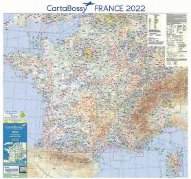 CARTE MURALE CARTABOSSY FRANCE 2019 125 X 105 CMS