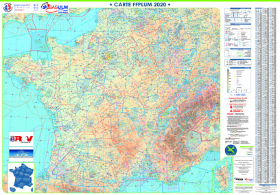CARTE MURALE AIR MILLION FRANCE 2020 VERSION FFPLUM