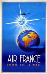 AFFICHE AIR FRANCE Rayonne sur le monde