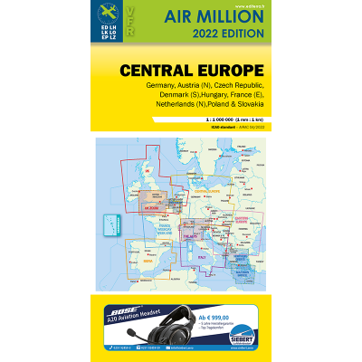 Carte OACI 2020 AIR MILLION VFR CENTRAL EUROPE ( ALLEMAGNE) au 1/1 000 000