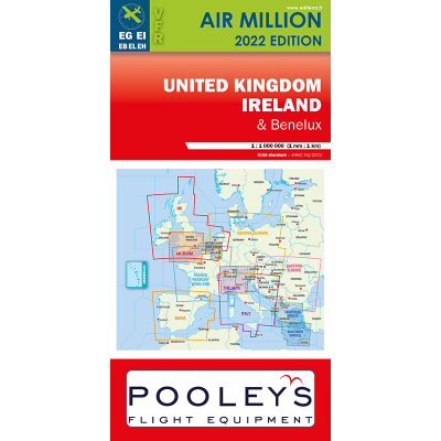 Carte OACI 2020 AIR MILLION VFR ROYAUME-UNI+IRELANDE au 1/1 000 000