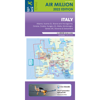 CARTE OACI 2020 AIR MILLION ITALIE AU 1/ 1 000 000