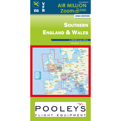 CARTE OACI 2020 AIR MILLION ZOOM VFR SUD ANGLETERRE ET PAYS DE GALLES AU 1/500 000
