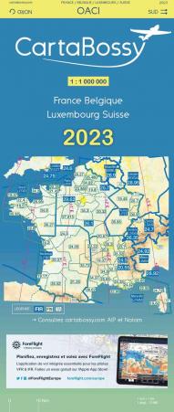 CARTABOSSY VFR 2021 FRANCE  au 1/ 1 000 000
