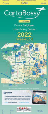 CARTABOSSY WEEK-END  VFR 2020 FRANCE au 1 /1 000 000