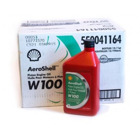 AEROSHELL W100 à l'unité ( 0.946 L ) ou carton de 12 bidons