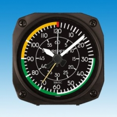 Réveil style AIR SPEED INDICATOR