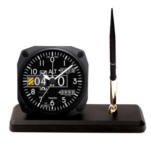 Horloge de bureau style ALTIMETRE + receveur à stylo