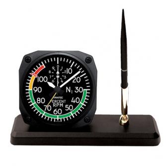 Horloge de bureau style Percent RPM + receveur à stylo