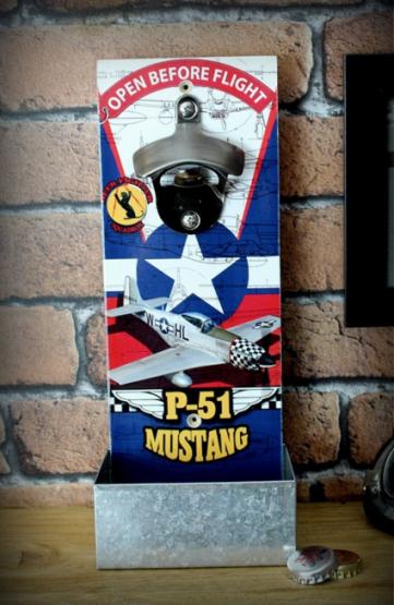 Décapsuleur mural P-51 Mustang
