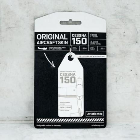 Porte-clé/porte-étiquette CESSNA 150 immat D-EOMO