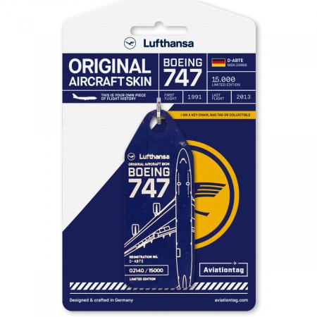 Porte-clé/porte-étiquette Boeing 747 KLM PH-BFF