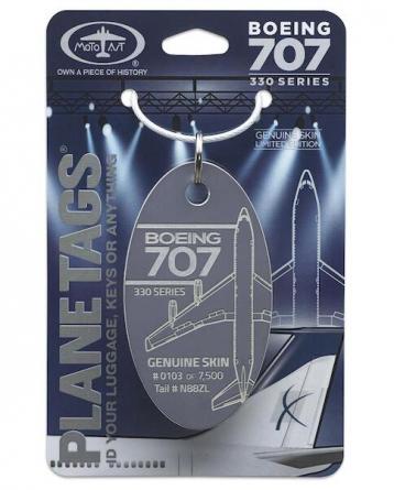 Porte-clé/porte-étiquette BOEING 707-330 N88ZL