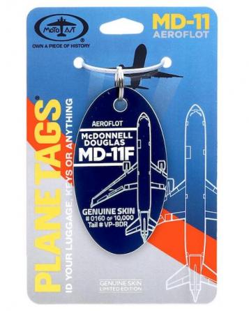 Porte-clé/porte étiquette Mc Donnel DOUGLAS MD11F AEROFLOT