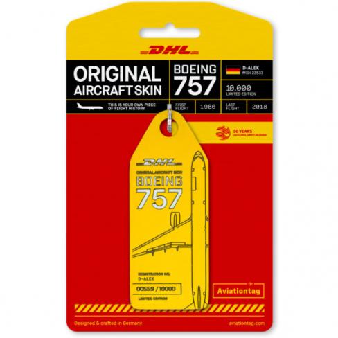 Porte-clé/porte-étiquette BOEING 757-200 DHL D-ALEK