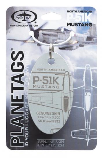 Porte-clé/porte-étiquette P51 K MUSTANG