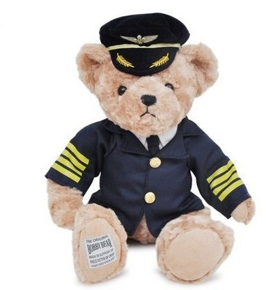Captain Pilot Teddy Bear en peluche 20 cms