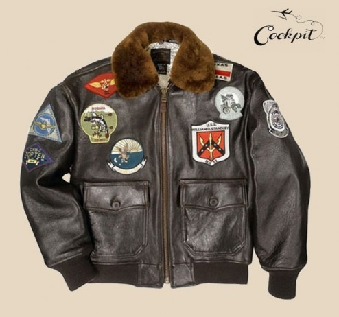 Blouson aviateur G-1 TOP GUN NAVY