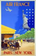 AFFICHE AIR FRANCE PARIS-NEW YORK