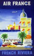AFFICHE AIR FRANCE French Riviera