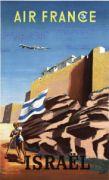 AFFICHE AIR FRANCE ISRAEL
