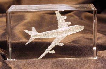BLOC presse papier BOEING 747