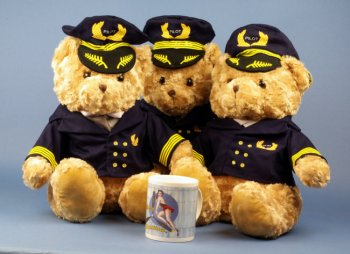 Captain Pilot Teddy Bear en peluche 40 cms
